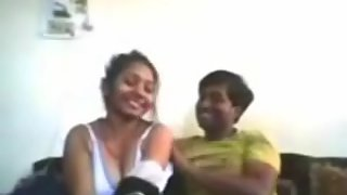 Indian school teacher showing boobs to her colleague