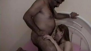 Mature Arab woman giving very hot blowjob