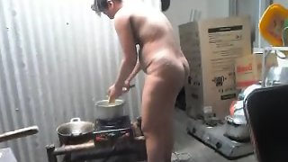 Telugu bhabhi naked in kitchen cooking