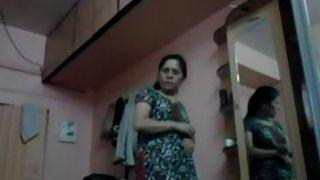 Indian wife caught on hidden cam changing in bedroom
