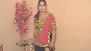 Mature tawaif dancing in her bedroom