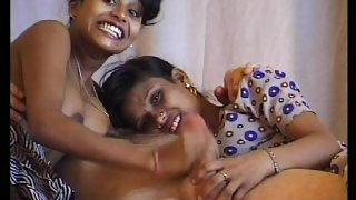 Two desi girls enjoying with uncle