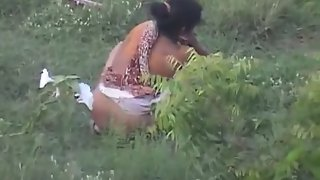 Indian villager caught on cam while having pee