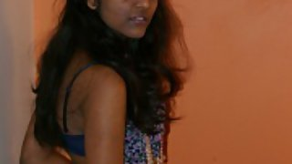 Divya after party in bedroom in her favourite under garments