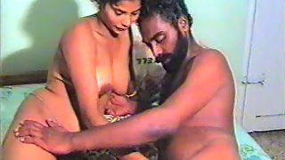 Indian mature couple having sex in their bedroom