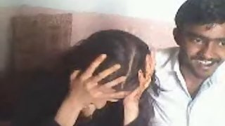 Desi girl giving blowjob to boyfriend