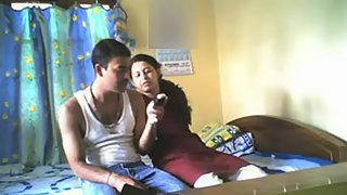Amateur Indian girlfriend homemade sex with her boyfriend