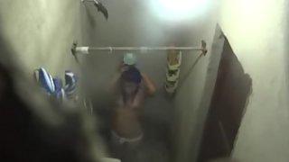Next door sexy Indian girl in shower recorded by hiddencam